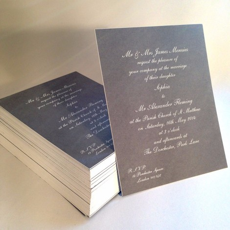 Pimlico Wedding Invitation
