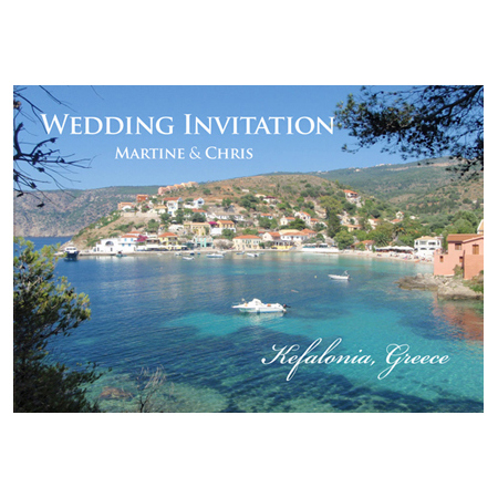 Postcards Wedding Invitation
