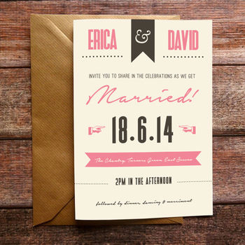 Retro Poster Wedding Invite