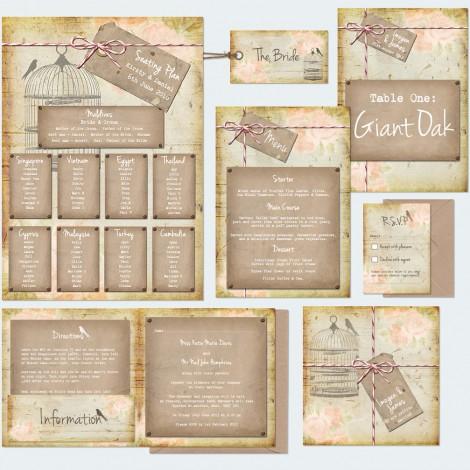 Rustic Notebook Wedding Invite