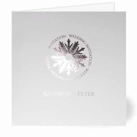 Silver Snowflake Wedding Invitation