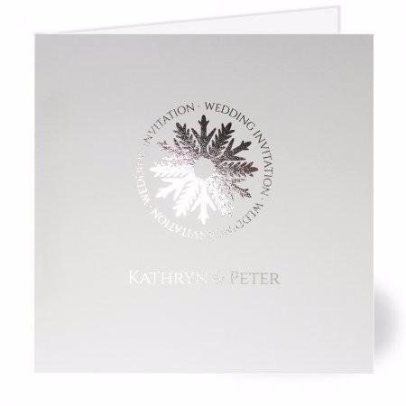 Silver Snowflake Wedding Invitation
