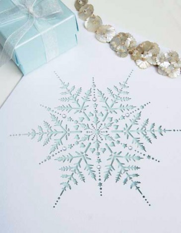 Snowflake Laser Cut Wedding Invite
