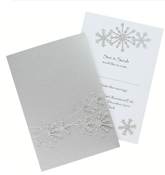 Snowflake Wedding Invite