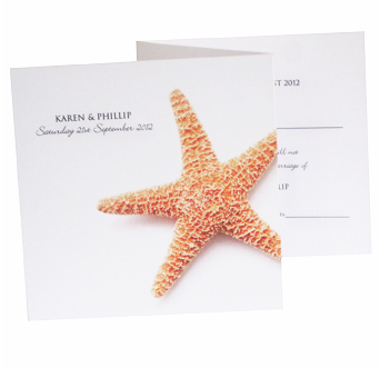 Starfish Wedding Invite