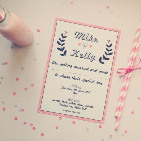 Strawberry Shake Wedding Invitation