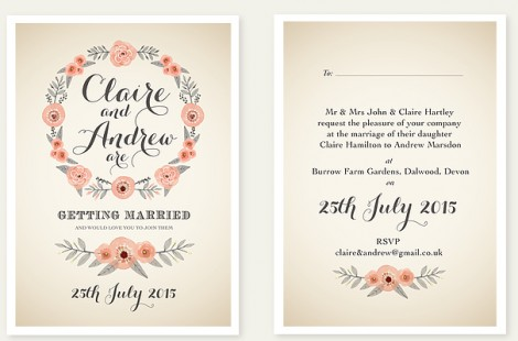 Summer Days wedding Invite
