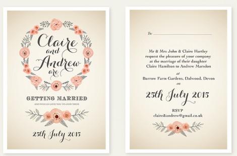 Summer Days wedding Invite