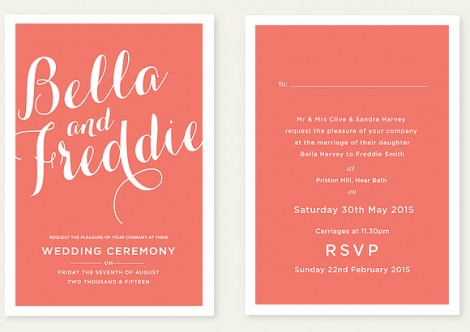 The Script Wedding Invite
