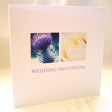 Thistle & Rose Wedding Invitation