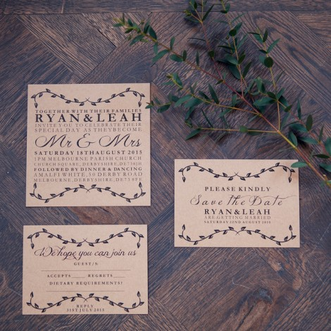 Tuscan Romance Wedding Invite