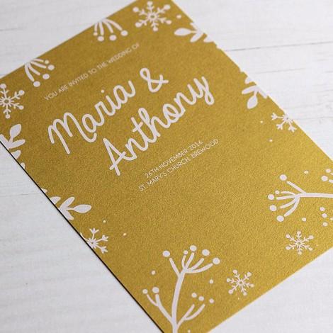 Winter Festive Wedding Invitation