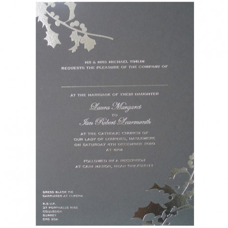 Winter Holly Wedding Invitation