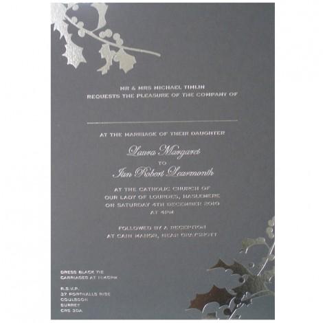Winter Holly Wedding Invitation