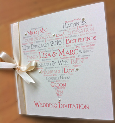 Words & Wishes Wedding Invite