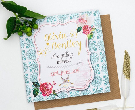 Bohemian Splendour Wedding Invitation
