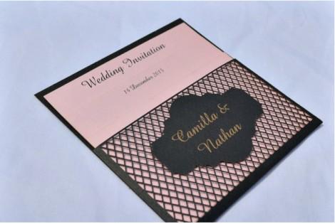 Vintage Lace Wedding Invite