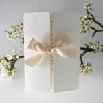Gatefold Wedding Invitation with Cream Bow