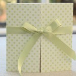 Pistachio Green Polka Dot Wedding Invitation