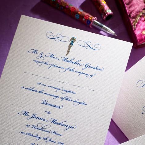 Asian Bindi Jewel Wedding Invitation