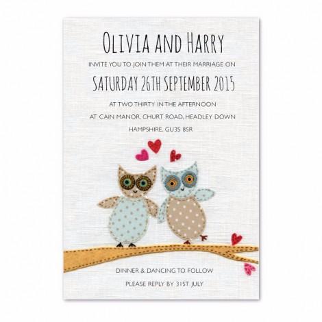 Owl Wedding Invitation Hoot Design