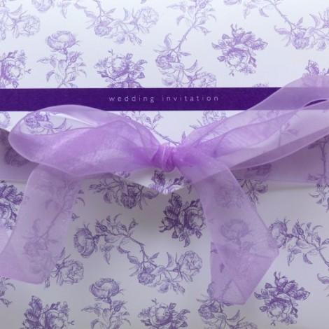 Bella Wedding Invitation in Purple