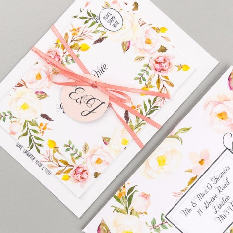 Floral Affair Wedding Invitation