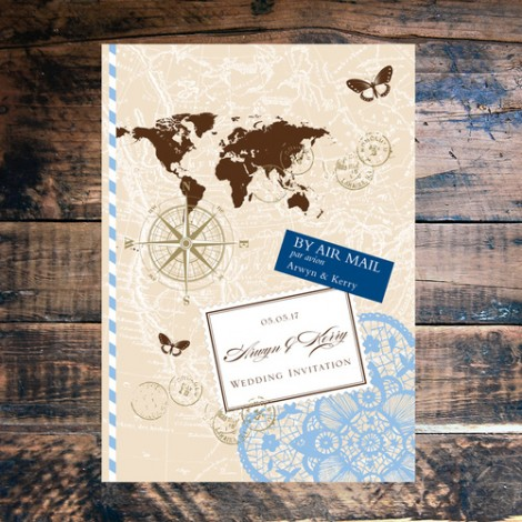 Love Travel Wedding Invitation