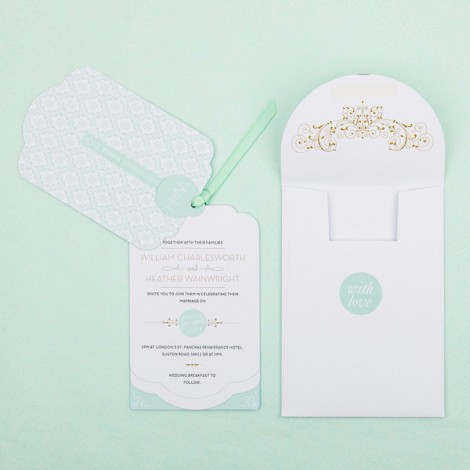 Love lace Luxe Wedding Invitation
