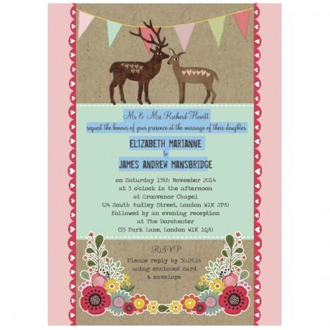 Rustic Woodland Wedding Invitation