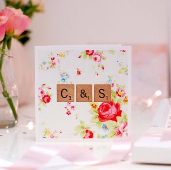 Scrabble Wedding Invitation