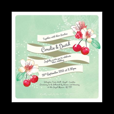 Summer Love Wedding Invitation
