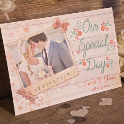 Beach Hut Wedding Invite