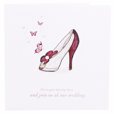 Dancing Shoes Wedding Invite