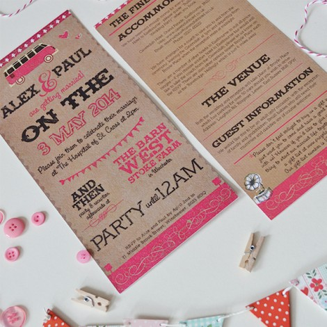 Devon Barn Wedding Invitation