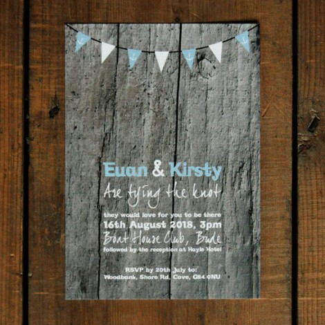 Driftwood Wedding Invite