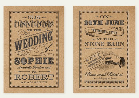Good Vintage Wedding Invite