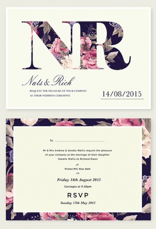 Monglam Wedding Invitation