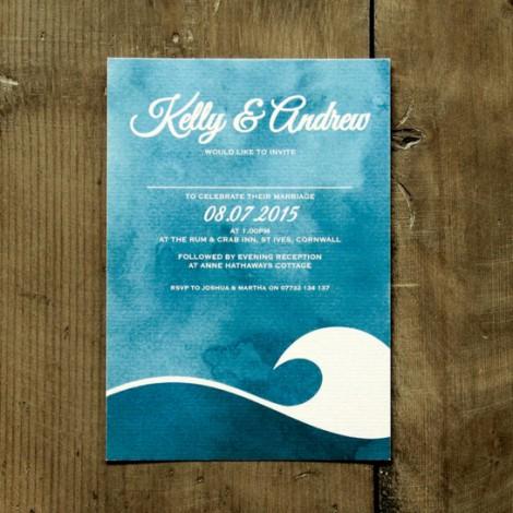Ocean Wave Wedding Invite