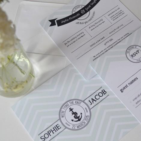 Oh Bouy Wedding Invite