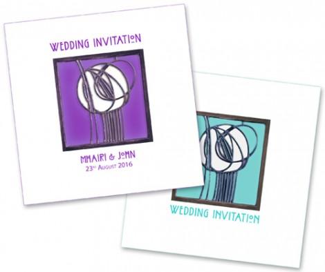 Rennie Mackintosh - Rose Wedding Invite