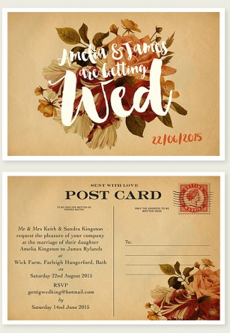 Sent With Love Wedding Invite