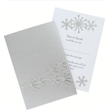 Snowflake Wedding Invite