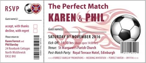 Sports Tickets Wedding Invite