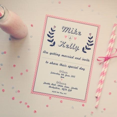 Strawberry Shake Wedding Invitation