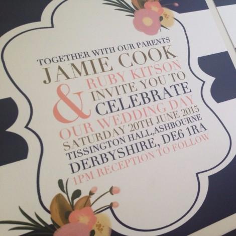 tripe Me Pretty Wedding Invitation