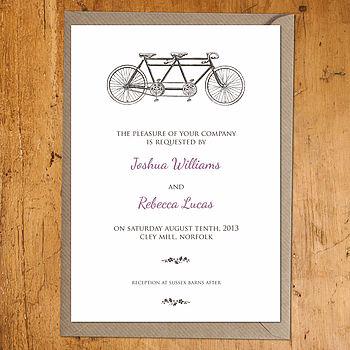 Tandem Wedding Invite