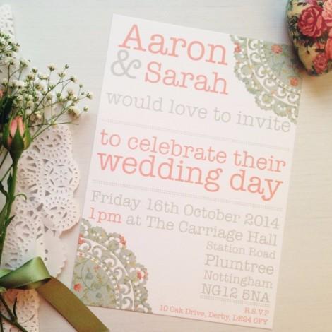 The Doily Daydream Wedding Invitation