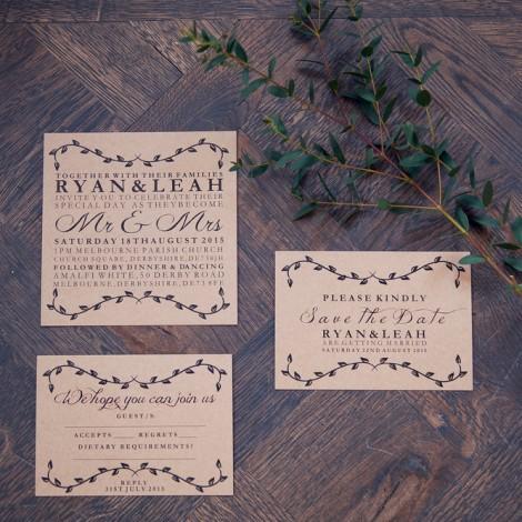 Tuscan Romance Wedding Invite