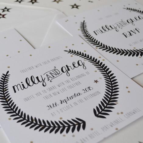 Under the Stars Wedding Invite